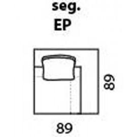 modul de colt la 90 de grade cu polita in loc de spatar cod: EP / se foloseste la configurarea coltarelor
