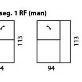 modul 1 loc cu recliner manual cu brat de dreapta