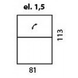 modul de 1,5 locuri fix - doar cu tetiera (partea de sus a spatarului) reglabila