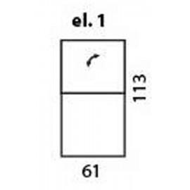 modul 1 loc fix dar cu partea de sus a spatarului (tetiera) reglabila