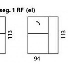 modul 1 loc cu recliner electric cu brat de dreapta