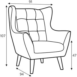 Leather Armchairs Henry