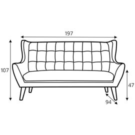 leather sofa Henry 3