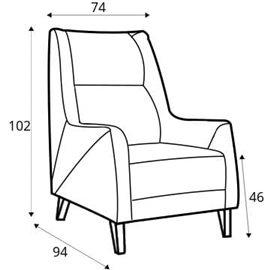 armchair Fiord leather