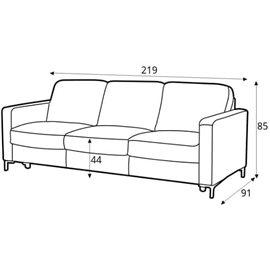 sofa bed Basic 3 leather