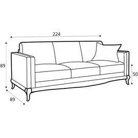 Canapele Laviano 3 locuri din piele