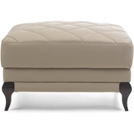 Footstool Laviano leather