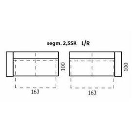 modul 2,5 locuri cu sertar depozitare pentru configurare coltare