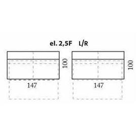 modul 2,5 locuri cu extensie pentru configurare coltare
