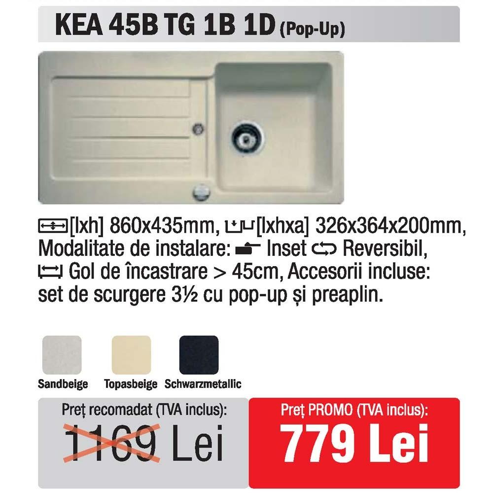 chiuveta granit Teka Kea 45B TG 1B1D - oferta