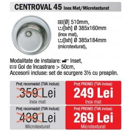chiuveta rotunda Teka centroval 45 Inox - oferta