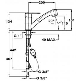 baterie bucatarie Teka MTP 978 crom - schita