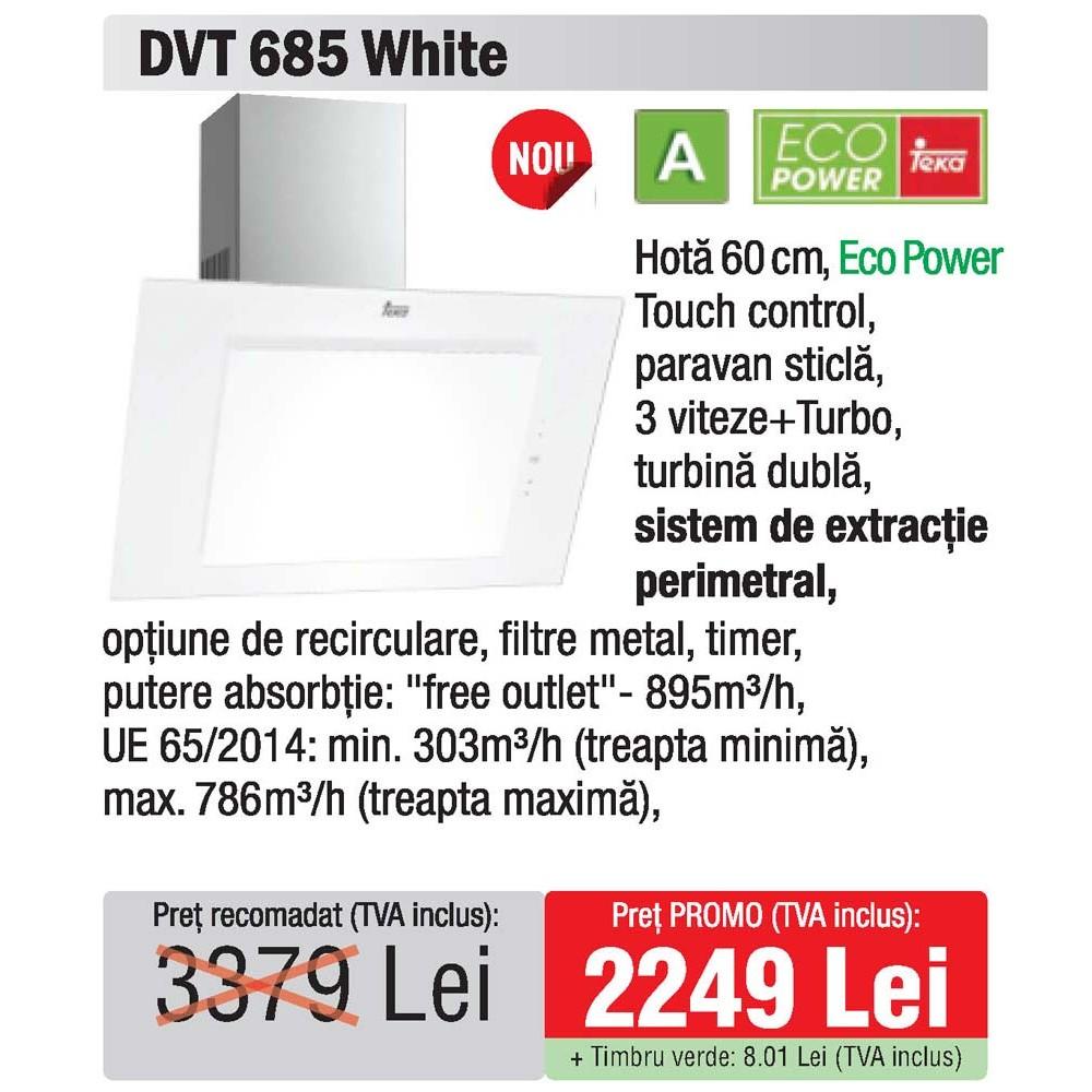 hota 60 Teka DVT 685 White - oferta