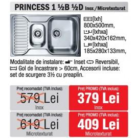 chiuveta Teka Princess 1 ½ B ½ D Inox - oferta