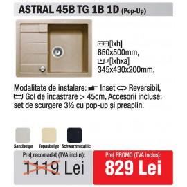 chiuveta Teka Astral 45B TG 1B 1D granit - oferta