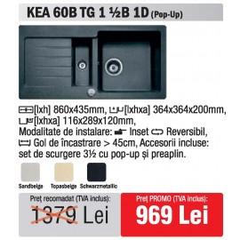 chiuveta Teka Kea 60B TG 1 1/2B 1D granit - oferta