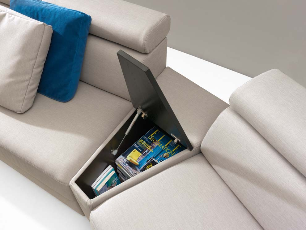 canapele Zoom - modul cu polita si depozitare